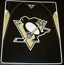 NHL NWT ROYAL PLUSH RASCHEL THROW BLANKET JERSEY DESIGN - PITTSBURGH PENGUINS