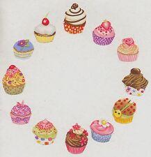 Lot de 12 Patch tissu thermocollant Cupcakes gâteau Pâtisserie