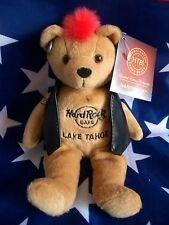 HRC Hard Rock Cafe Lake Tahoe Punk Bear Mohawk 2011 Red Hair Herrington