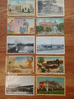 Lot Of 10 Vintage 1940s Postcards Post Marked 1940s 1 Cent  Stamps MD VA