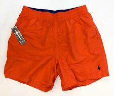 Polo By Ralph Lauren Swimwear Beach Shorts in Neon Orange Men's Size Medium NEW