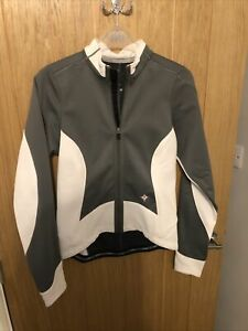 Specialized Womens Cycling Jacket S Small Grey & White Racing