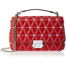 Michael Kors Sloan Large Quilted Leather Shoulder Chain Bag  30S9LSLL7Y Red