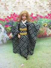 Kimono Vintage Style Outfit for Barbie Doll Dress Costume Clothing J-2