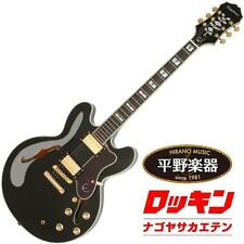 Epiphone Sheraton-II PRO Ebony beutiful rare JAPAN EMS F/S*