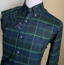 NWT Ralph Lauren Mens Dress Shirt Slim Fit Green Size L