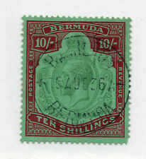 Bermuda  SG# 54 Used / 10 shilling/ scarce   -  Lot 0120245
