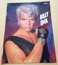 BILLY IDOL = A4 magazine PINUP page poster clipping Germany 90s