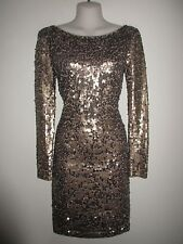 VICTORIA'S SECRET NWOT $198.- Taupe/Bronze All-Over Sequin Knee-Length Dress, S