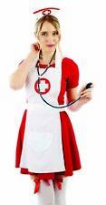 Womens Nurse Costume Kit for Ladies Medical Hospital Uniform Fancy Dress One Siz