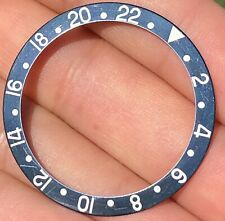 Rolex GMT-Master II 16700 16710 16760 Faded Fat Font Black Bezel Insert ORIGINAL