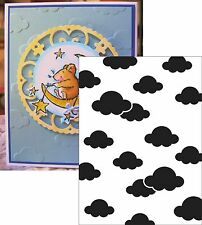 Clouds Embossing Folders Darice Folder 1217-53 All Occasion Cuttlebug Compatible