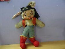 """vtg RUSHTON RUBBER FACE Stuffed Plush pirate BUNNY RABBIT 14"""" Doll la filibusta"""