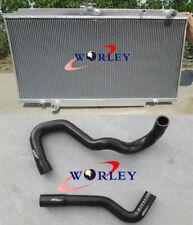 For Nissan GU Patrol Y61 Diesel 4.2L Turbo TD42 MT Aluminum Radiator&BLACK HOSE
