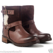 Redfoot Ladies Brown Warm Lined Suede Leather Boots Shoes UK 4/Euro 37 RRP £200