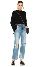 NWT $395 Helmut Lang Cropped Ruffle Pullover Sweater in Black XS