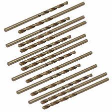 2.2mm Dia 52mm Length HSS Round Shank Twist Drill Bit Silver Tone 10pcs