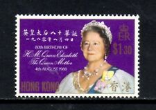(Ref-11205) Hong Kong 1980 Queen Mothers Birthday SG.390 Mint Hinged   Scott-364