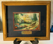 Thomas Kinkade framed Collector's Print Sunday at Apple Hill 11 x 9 brass plate