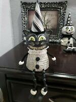Halloween Vintage Style Black Cat Shelf Sitter Tabletop Decor