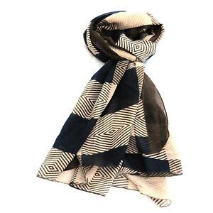 Stripe Print Multi Colour Womens Fashion Scarf (Coffee)