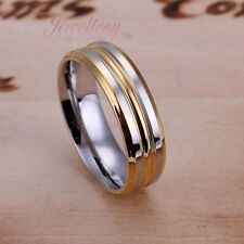 Multi-tone Gold Ring with Zirconia R040
