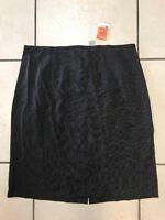 K.C. Spencer New York Women's Size 16 Black Pinstripe Straight Skirt -NWT