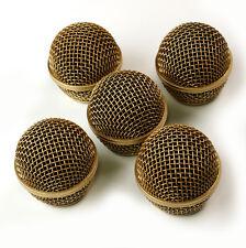 5x mesh mikrofon grille for shure sm58 565sd lc mikrofon, kupfer versilbert