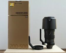 Nikon AF-S NIKKOR 200-500 mm telephoto zoom lens. Immaculate Condition.