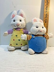 """MAX and Ruby Lot 2 Plush Rabbit 12"""" 14"""" Play Along  / Kelly Toy"""