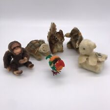STEIFF Vintage Lot Jocko Squirrel Beaver Rooster Turtle & Lamb with Music Box