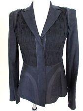 ELIE TAHARI Jacket Sz 0 AVRIL Navy Button Front Blazer NEW
