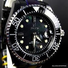 Invicta JT Jason Taylor Grand Diver Black Diamond 47mm Automatic MOP Watch New