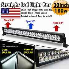 30Inch 180w Led Light Bar Flood Spot Comb Work Lamp Offroad ATV SUV Fog Jeep 32