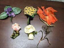 Vintage Edwardian lot of Millinery / Hat Flowers