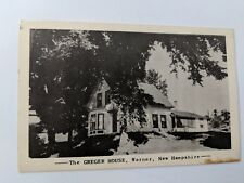 POSTCARD NH The Greger House Warner NH RPPC O-1
