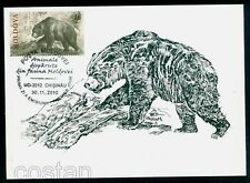 2010 Cave bear,Höhlenbär,Prehistoric and extincted animals,Moldova,FDC Maxi card