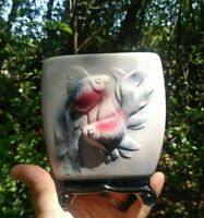 Vintage Royal Copley Ceramic  3D Koi Fish Planter