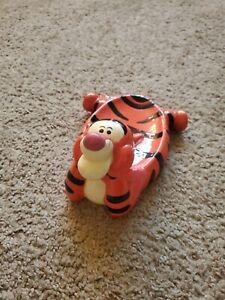 Disney Pooh N Friends Tigger Soap Dish Handpainted Ceramic Rare