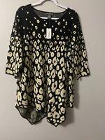 Women's Plus Size 3/4 Sleeve Tunic Dressy Top On Sale