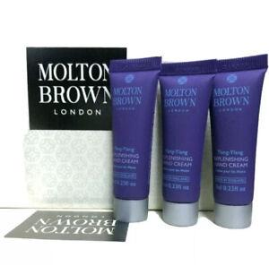 Molton Brown Ylang-ylang Replenshing Hand Cream 3x 7ml Travel Size Handbag Size