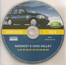 01 02 03 04 LAND ROVER NAVIGATION MAP CD 5 MIDWEST OHIO VALLEY NY OH PA TN WI WV