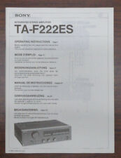 SONY TA-F222ES Amplifier Original Operators Manual