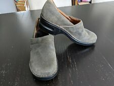 Born Slip On Grey/Green Woman's Shoes Size 10