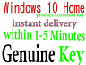 windows 10 Home 32/64 bit product activation key instant delivery within 5 minut