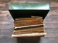 Vintage Green Metal Recipe Box Filled with Over 200 Recipes Clipped Handwritten