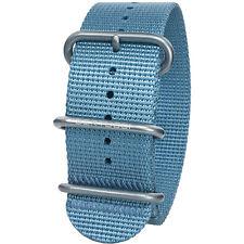 New Bertucci DX3 Men's Stainless Buckle Sea Blue Nylon Smart Watch Band B-111