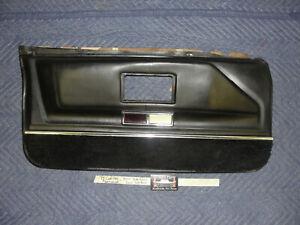 OEM 75 Cadillac Fleetwood 4 DOOR LEFT DRIVER SIDE FRONT LOWER DOOR PANEL BLACK