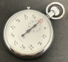 Vintage Edge Timer Stop Watch Swiss 1 Jewel Working Well 2 Button F2377