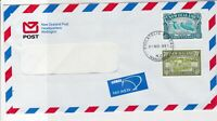New Zealand Airmail N.Z.Post Philatelic Bureau Cancel Two Stamps Cover Ref 23477